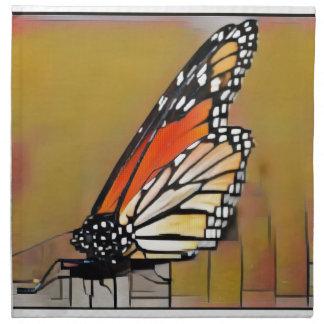 Papillon de monarque serviettes en tissus
