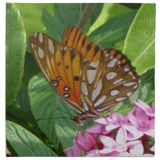Papillon de passiflore serviettes en tissus