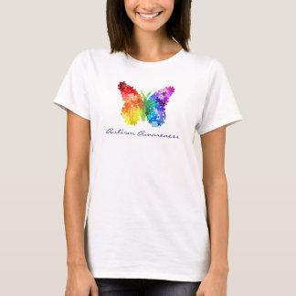 Papillon de puzzle d'arc-en-ciel de t-shirt