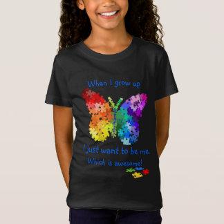Papillon de puzzle d'autisme quand je grandis la T-Shirt