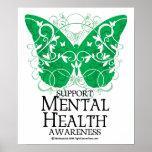 Papillon de santé mentale affiche
