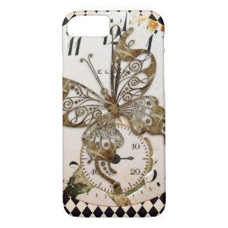 Papillon de Steampunk rond Coque iPhone 8/7