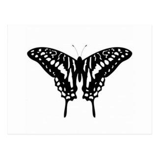 Papillon décoratif noir carte postale