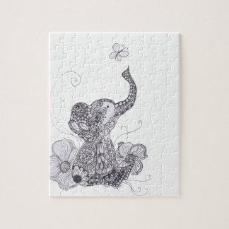 Papillon d'éléphant puzzle