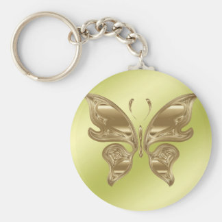 Papillon d'or porte-clés