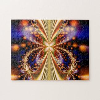 Papillon éclectique - puzzle d'art de fractale
