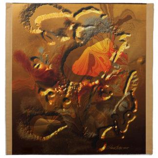 Papillon jaune serviettes de table