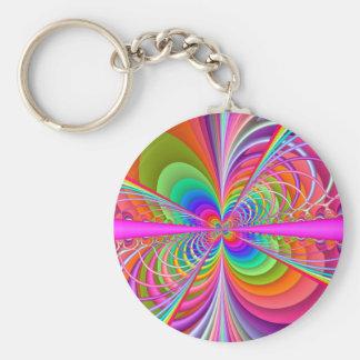 Papillon lunatique de fractale porte-clés