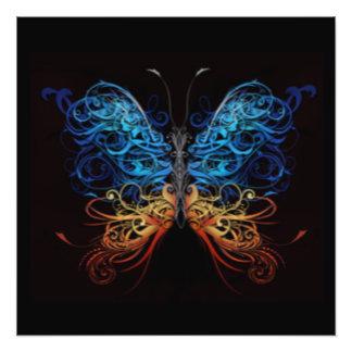 Papillon multi abstrait de couleur impressions photographiques