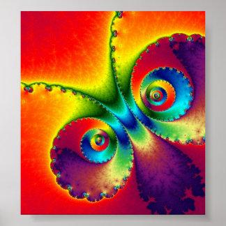 Papillon psychédélique posters