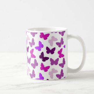 Papillon sans couture violet mug