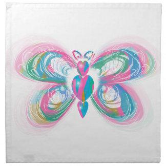 papillon serviettes en tissus