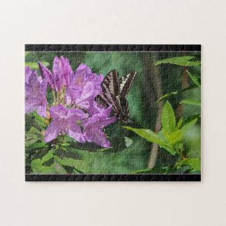 Papillon sur le rhododendron - puzzle
