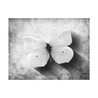 Papillon vintage noir et blanc toile