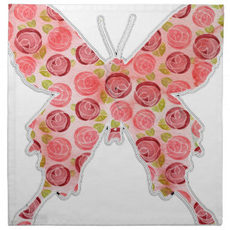 papillon vintage serviettes en tissus