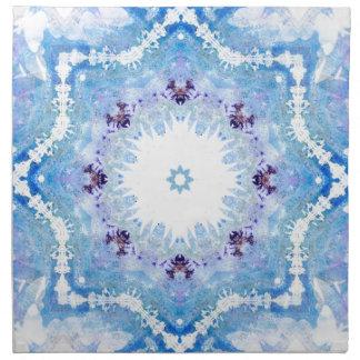 Papillons assez bleus serviettes en tissus