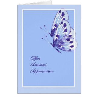 Papillons auxiliaires de carte d'appréciation de