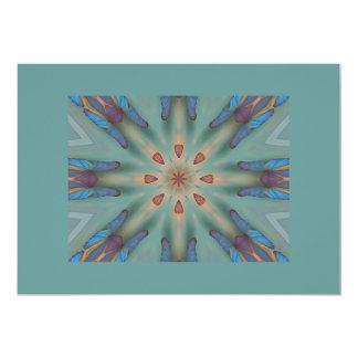 Papillons bleus carton d'invitation  12,7 cm x 17,78 cm