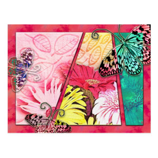 Papillons colorés carte postale