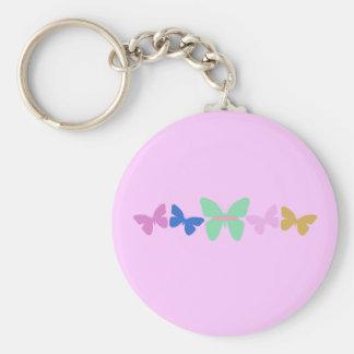 Papillons colorés porte-clés