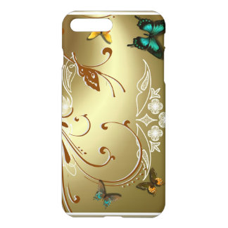 Papillons d'or coque iPhone 7 plus