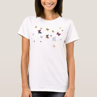 Papillons drôles t-shirt