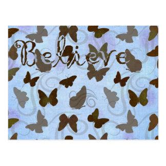Papillons inspirés carte postale