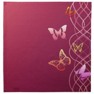 Papillons Serviettes En Tissus