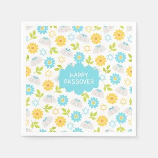 Pâque florale Sedar de printemps Serviettes Jetables