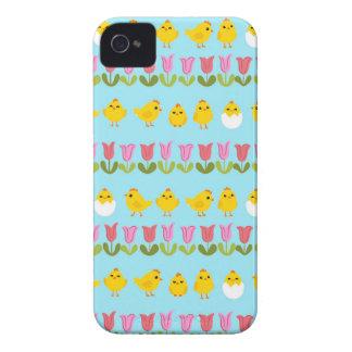 Pâques - poussin et tulipes coques Case-Mate iPhone 4