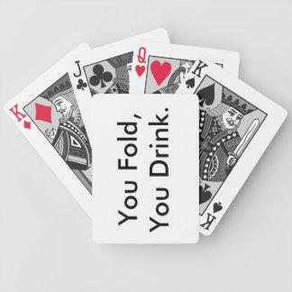 Paquet de cartes potable jeux de cartes