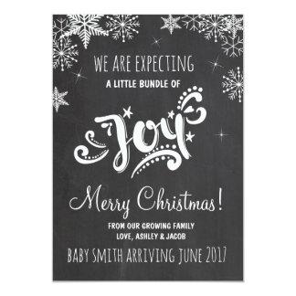 Paquet de faire-part de grossesse de Noël de joie