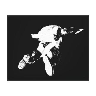 Parachutisme noir et blanc toile