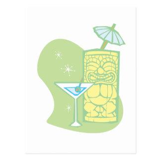 Parapluie Tiki Carte Postale