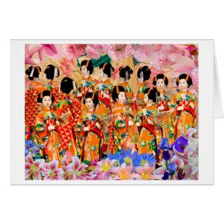 Parasol de geisha carte de vœux