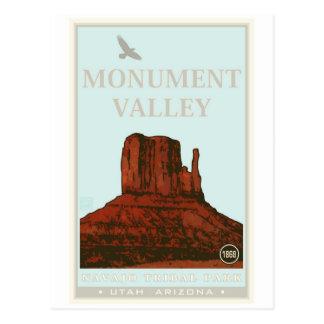 Parc de tribal de Navajo de vallée de monument Carte Postale