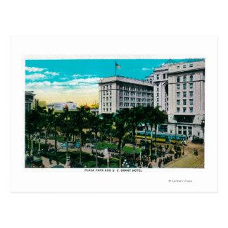 Parc et les États-Unis Grant HotelSan Diego, CA de Carte Postale