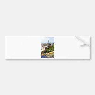 Parc Guell à Barcelone, Espagne Autocollant De Voiture