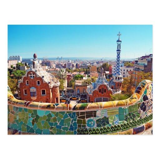Parc Guell, Barcelone - Espagne Carte Postale   Zazzle