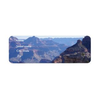 Parc national de canyon grand, jante du sud étiquette d'adresse retour