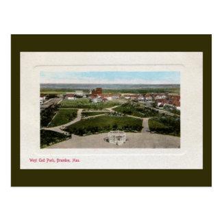 Parc vintage Brandon Manitoba de West End des Cartes Postales