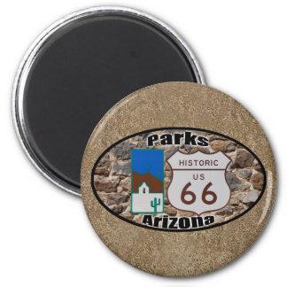 Parcs historiques Arizona de l'itinéraire 66 des Magnet Rond 8 Cm