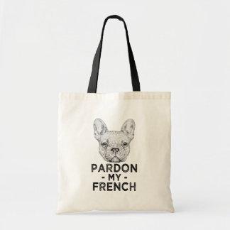 Pardonnez mon sac français et drôle de bouledogue