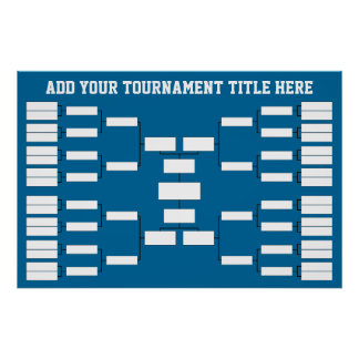 Parenthèse de tournoi de sports poster
