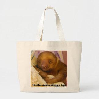 Paresse de bébé sac en toile jumbo