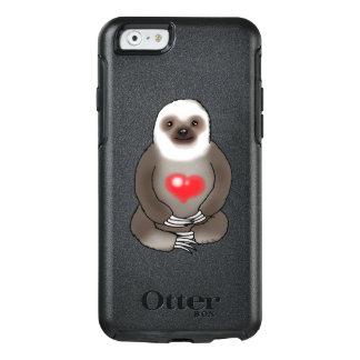 paresse mignonne avec le coeur rouge coque OtterBox iPhone 6/6s