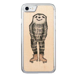 Paresse sur des patins de rouleau coque carved iPhone 8/7