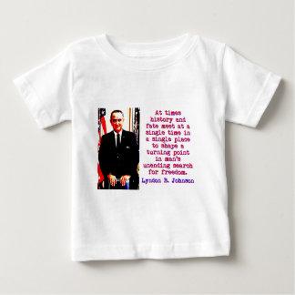 Parfois histoire et destin - Lyndon Johnson T-shirt Pour Bébé