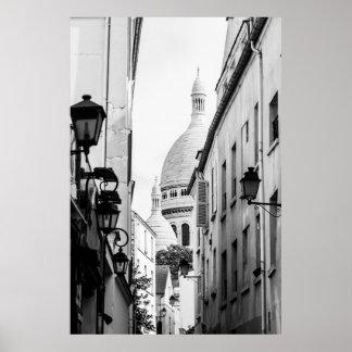 Parijs sacre-Coeur in Zwart-wit Poster