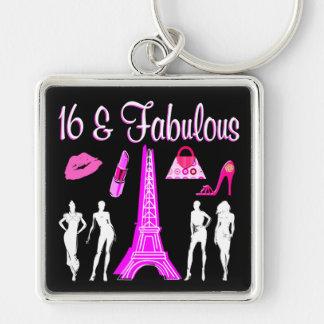PARIS A INSPIRÉ la 16ème CONCEPTION d'ANNIVERSAIRE Porte-clés
